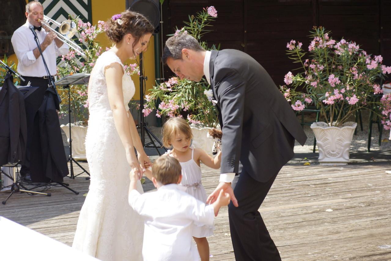 Das Brautpaar Barbara und Todd