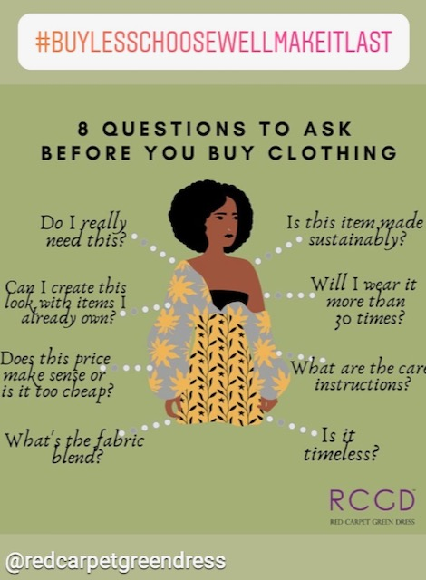 Tips for a sustainable closet © RED CARPET GREEN DRESS