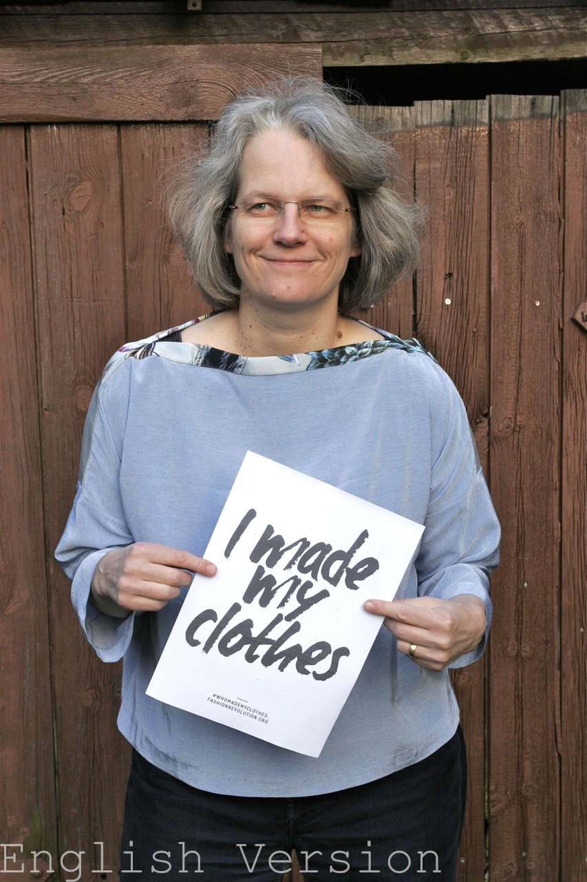 """#fashionrevolutionday with top """"Berlin"""" from La Maison Victor (en)"""