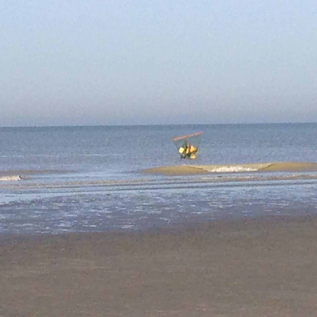 Pêcheur à pieds face à Cayeux ©milou-en-baie