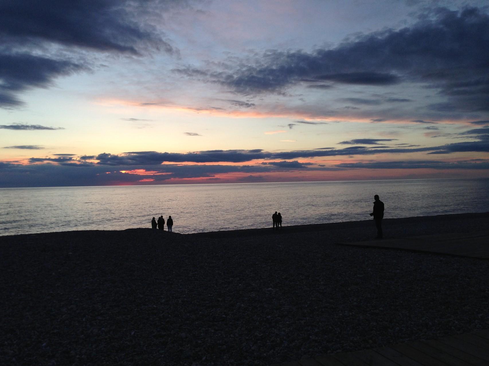 Vue de la plage de Cayeux sur Mer, mai 2014