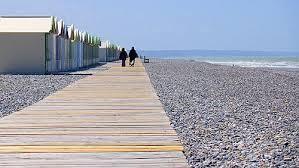 Le plus long chemin de planches d'Europe; cabines de plage; Baie de Somme