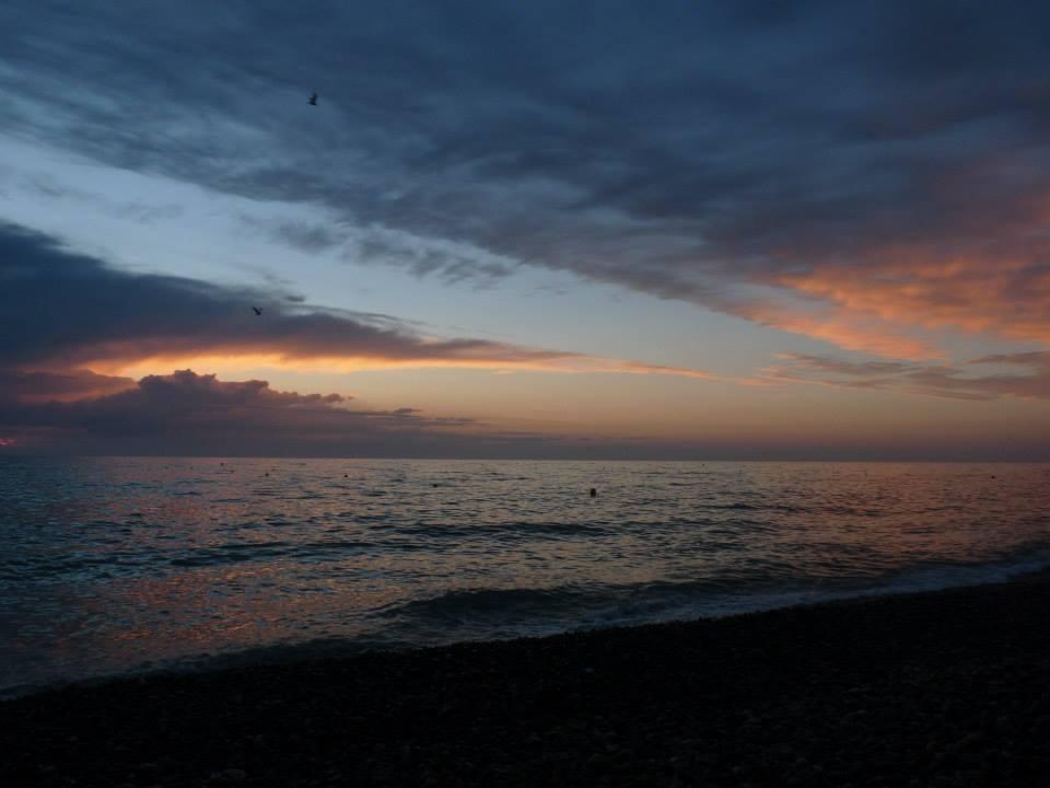 """La plage de Cayeux sur Mer; Un soir d""""été; Baie de Somme; coucher de soleil"""