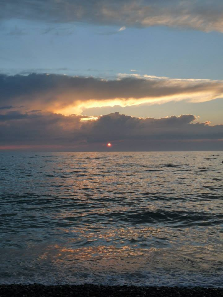 """La plage de Cayeux sur Mer; Un soir d""""été; Baie de Somme"""