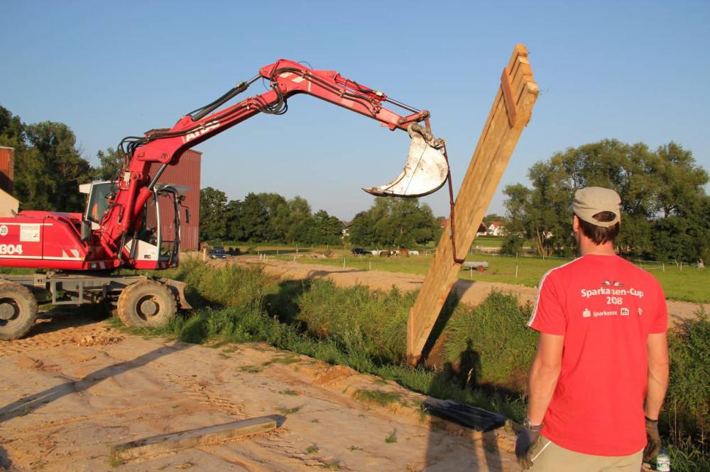 Auch bei Damm 2 kommt ein Balkenwehr zum Einsatz.