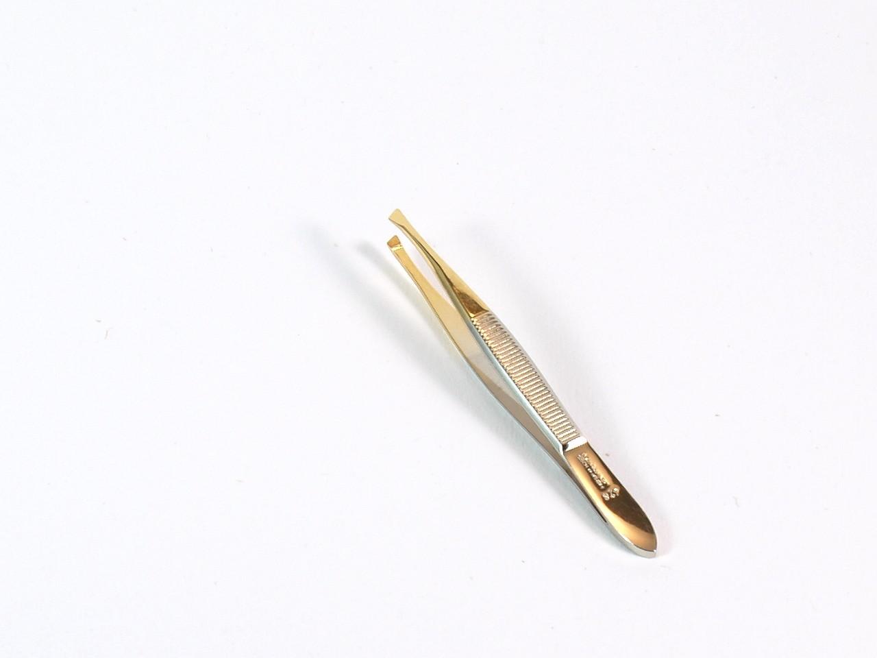 Malteser Nr. 9/428 GS Zupfpinzette Goldspitze, schräg, 8 cm