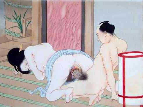 Japans Porno während Mann schläft