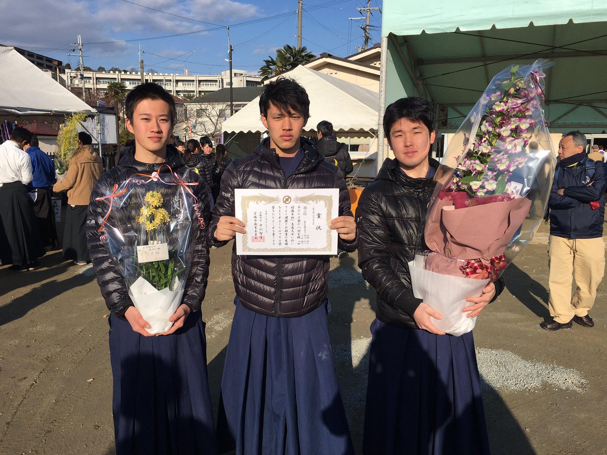団体3位 Aチーム 矢野遼(1) 瀬戸(2) 川瀬(3)