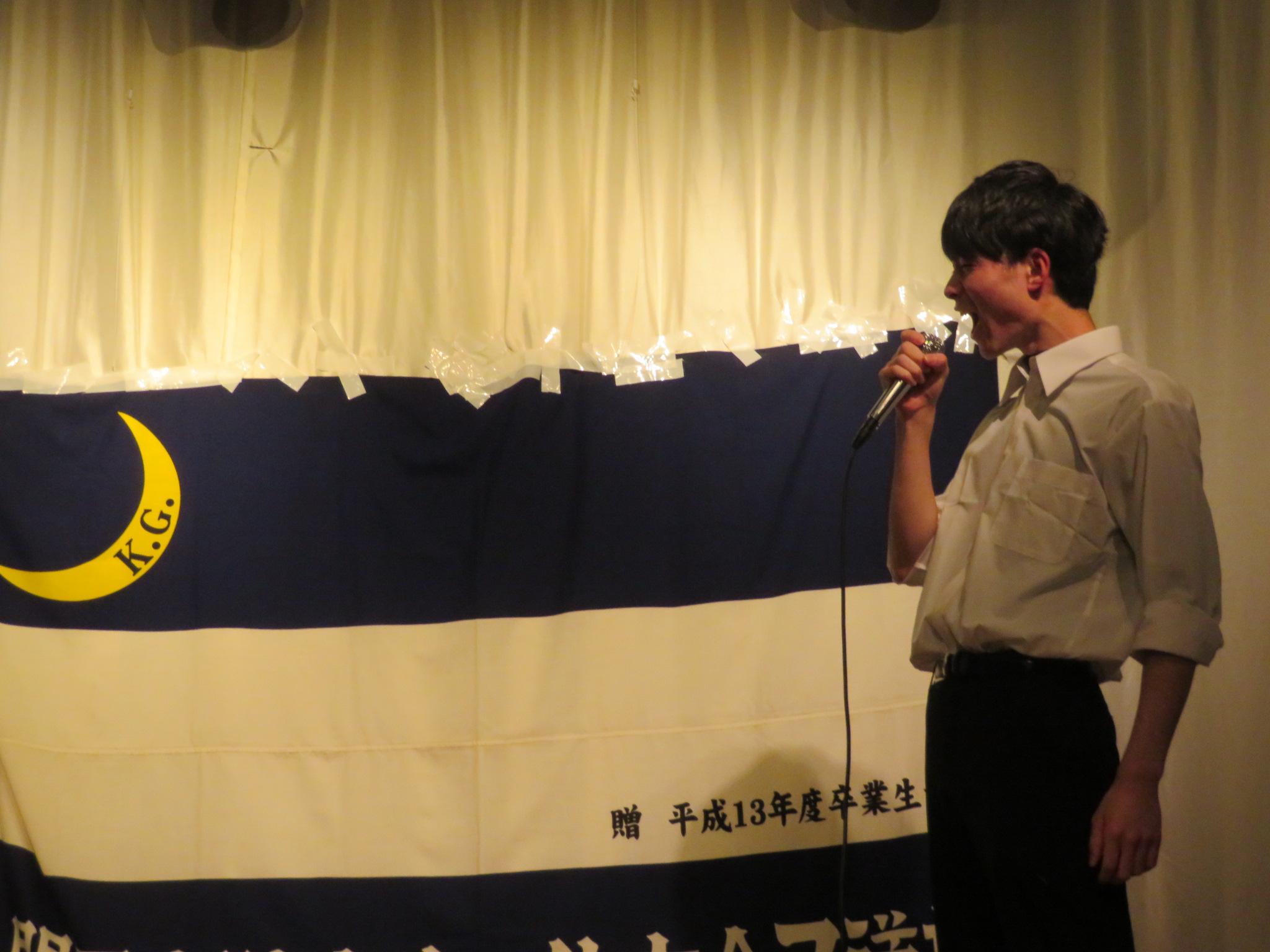 司会の古田浩嗣(法3)