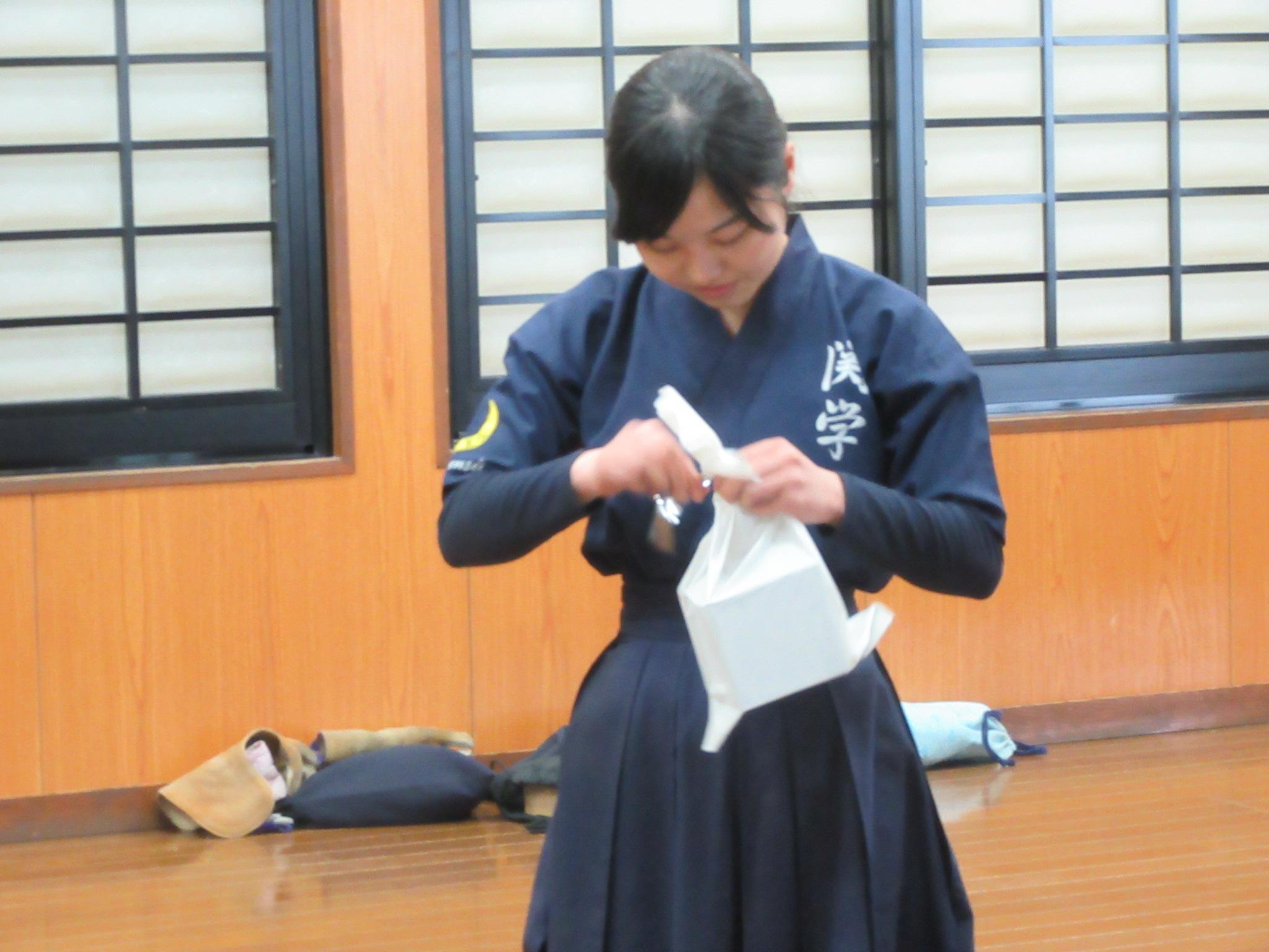 春合宿総的中率 女子3位 吉本(新2年) 0.725