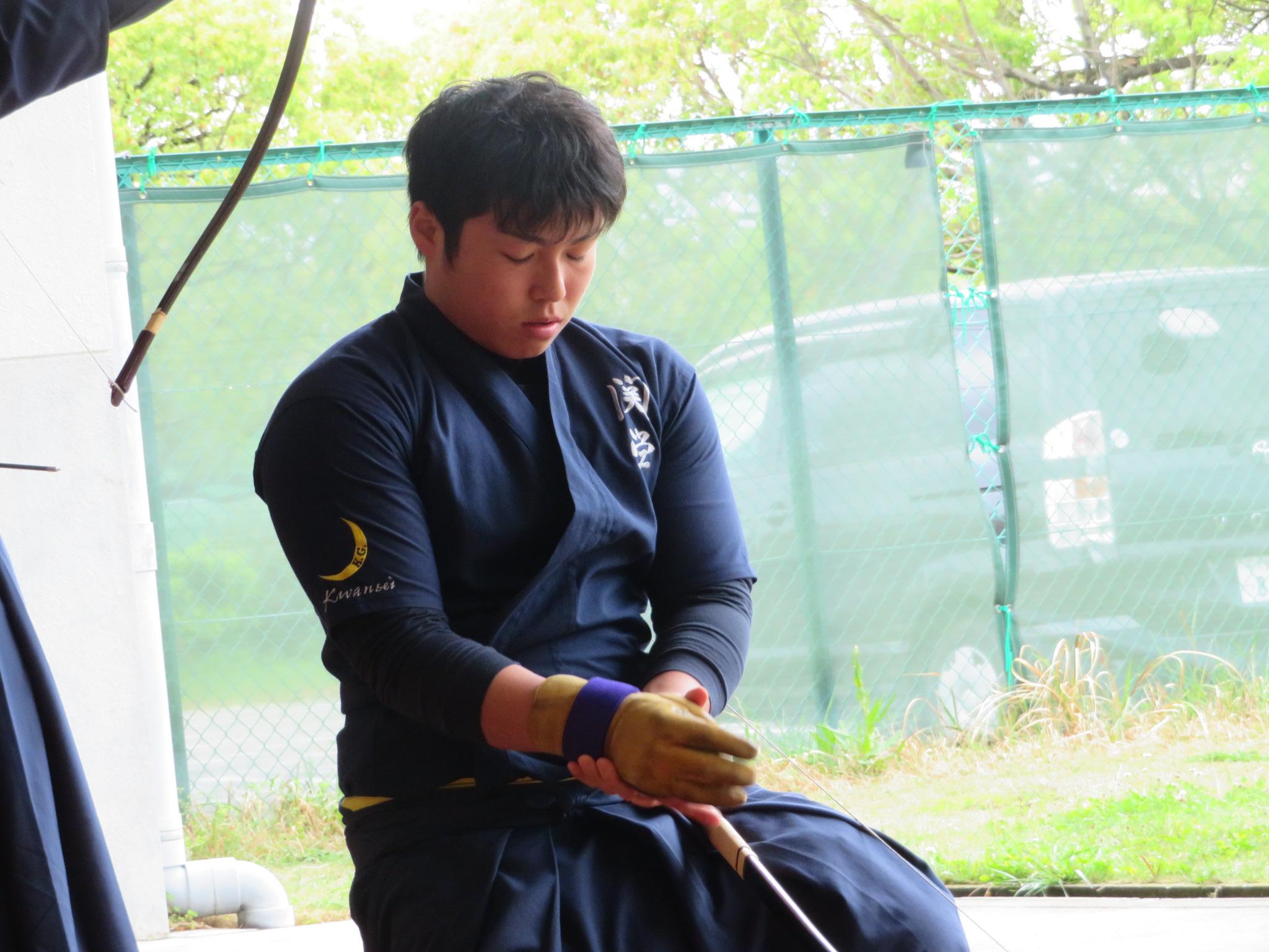 四的 染田(2)昨年の関西選手権4位