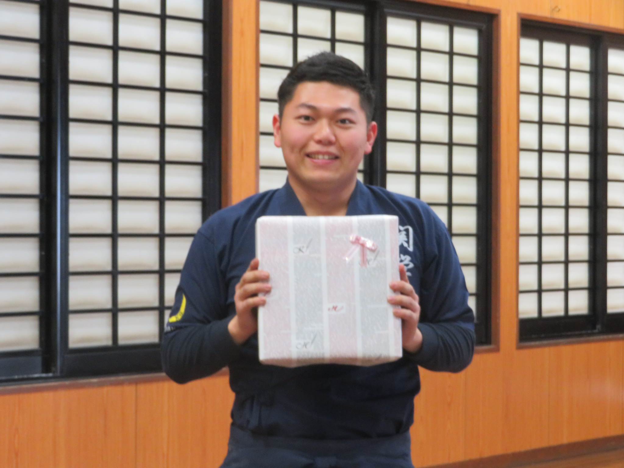 合宿敢闘賞 河本(新2年)昨年11月入部で合宿から立練習開始も高的中を残した