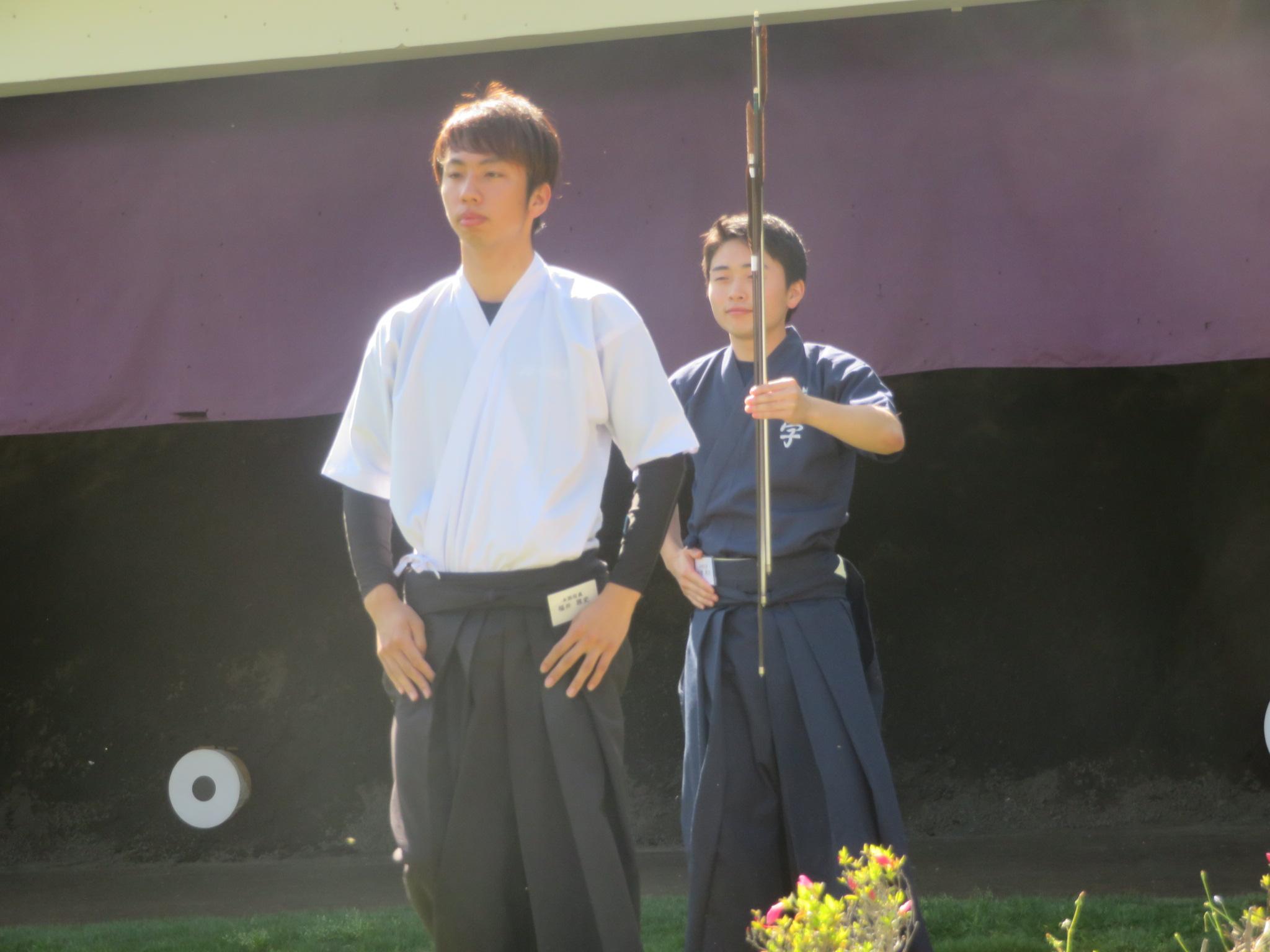 兵庫学連の小西 予選一手競射とトーナメント1回戦で皆中しました