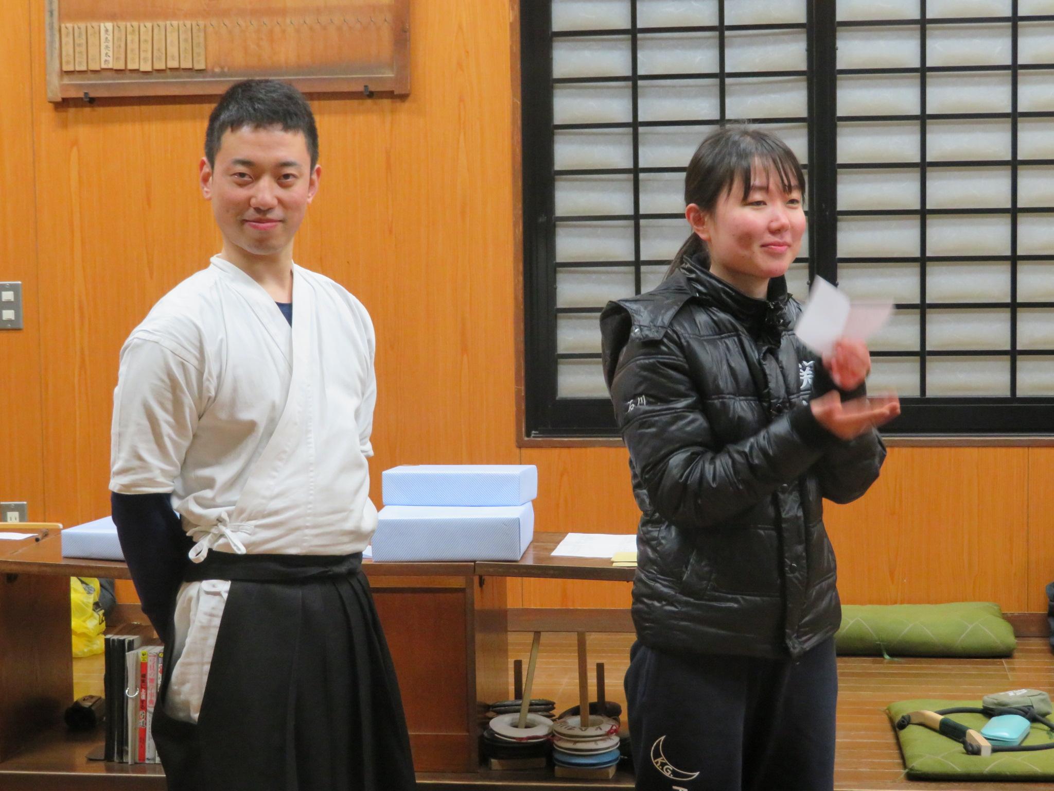 四日目 表彰式 司会は中村(4) プレゼンテーターは石川(4)