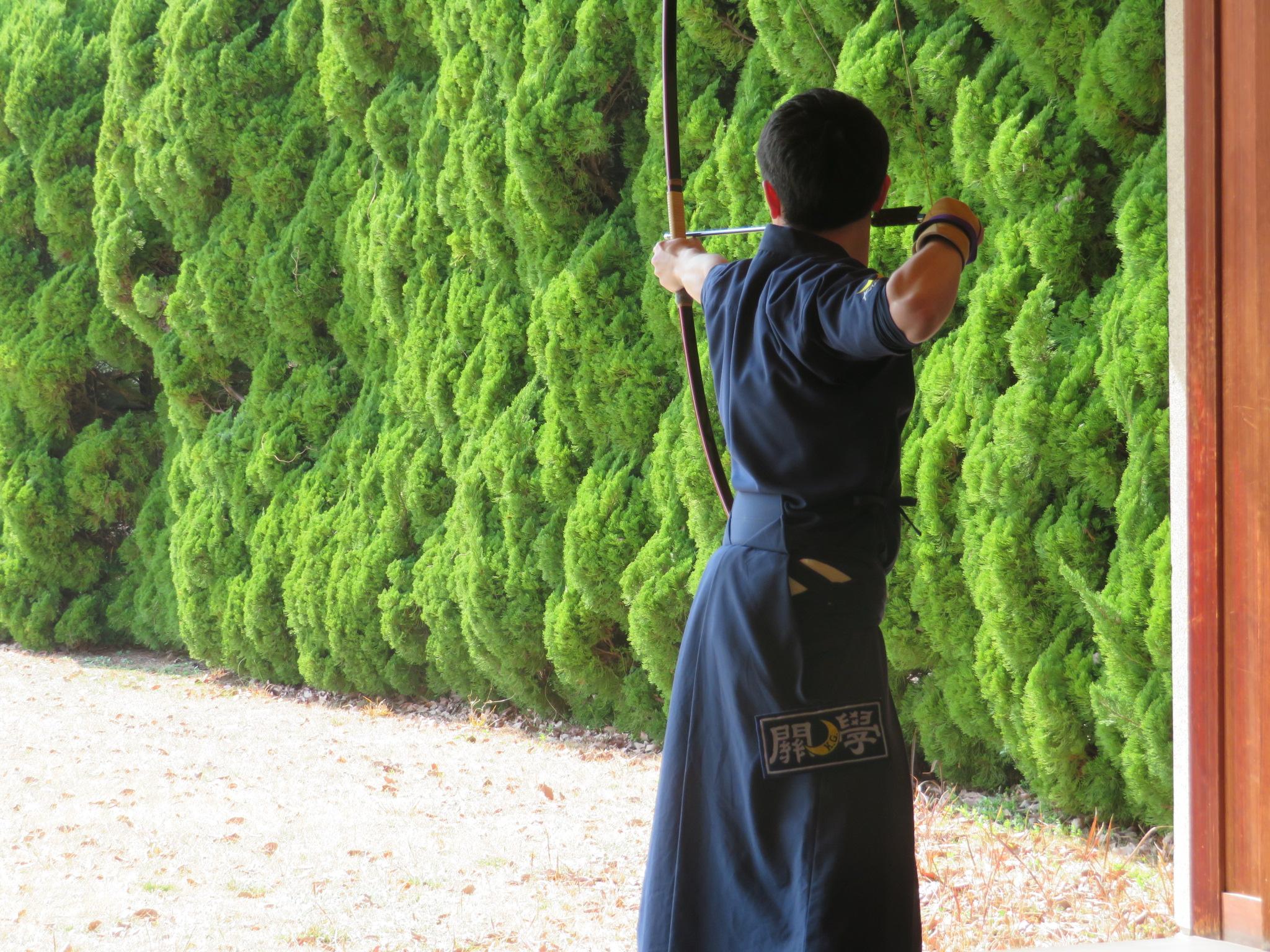 同志社戦 大前 小西(新2)大学から弓道を始めました