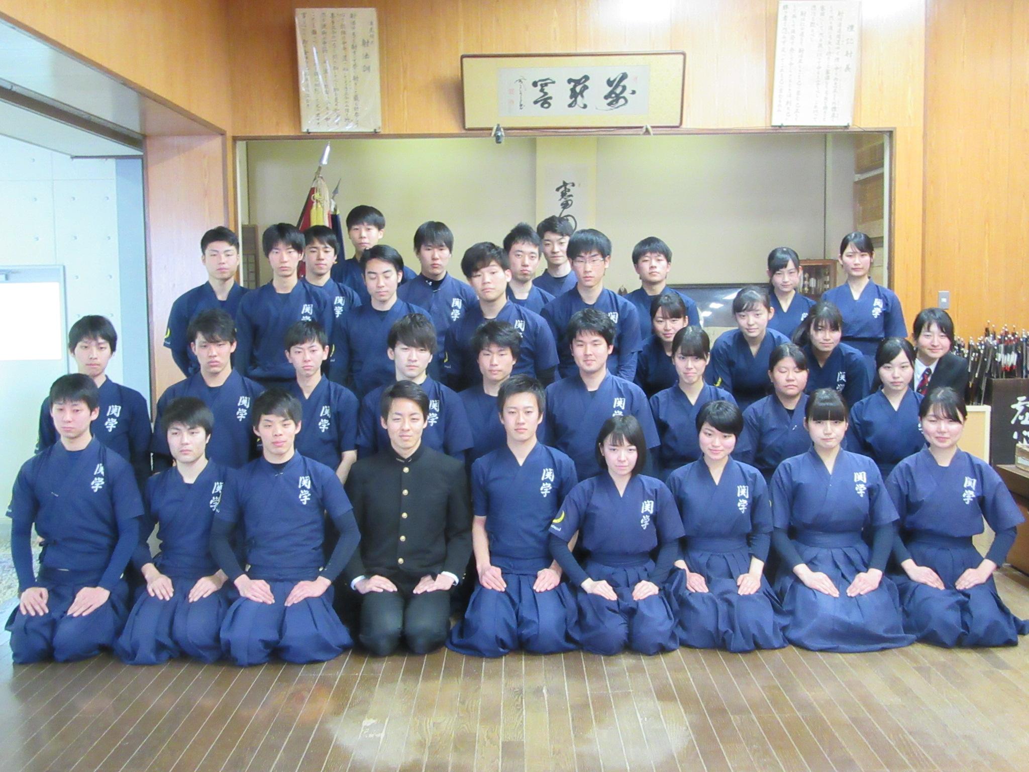 チーム2017、このメンバーで戦います(男子主将の五十嵐と女子副将の東田は就活で不在です)