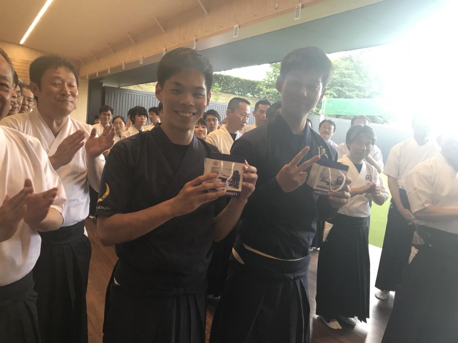 上川君と嶋本君はともに8射7中で団体3位に貢献