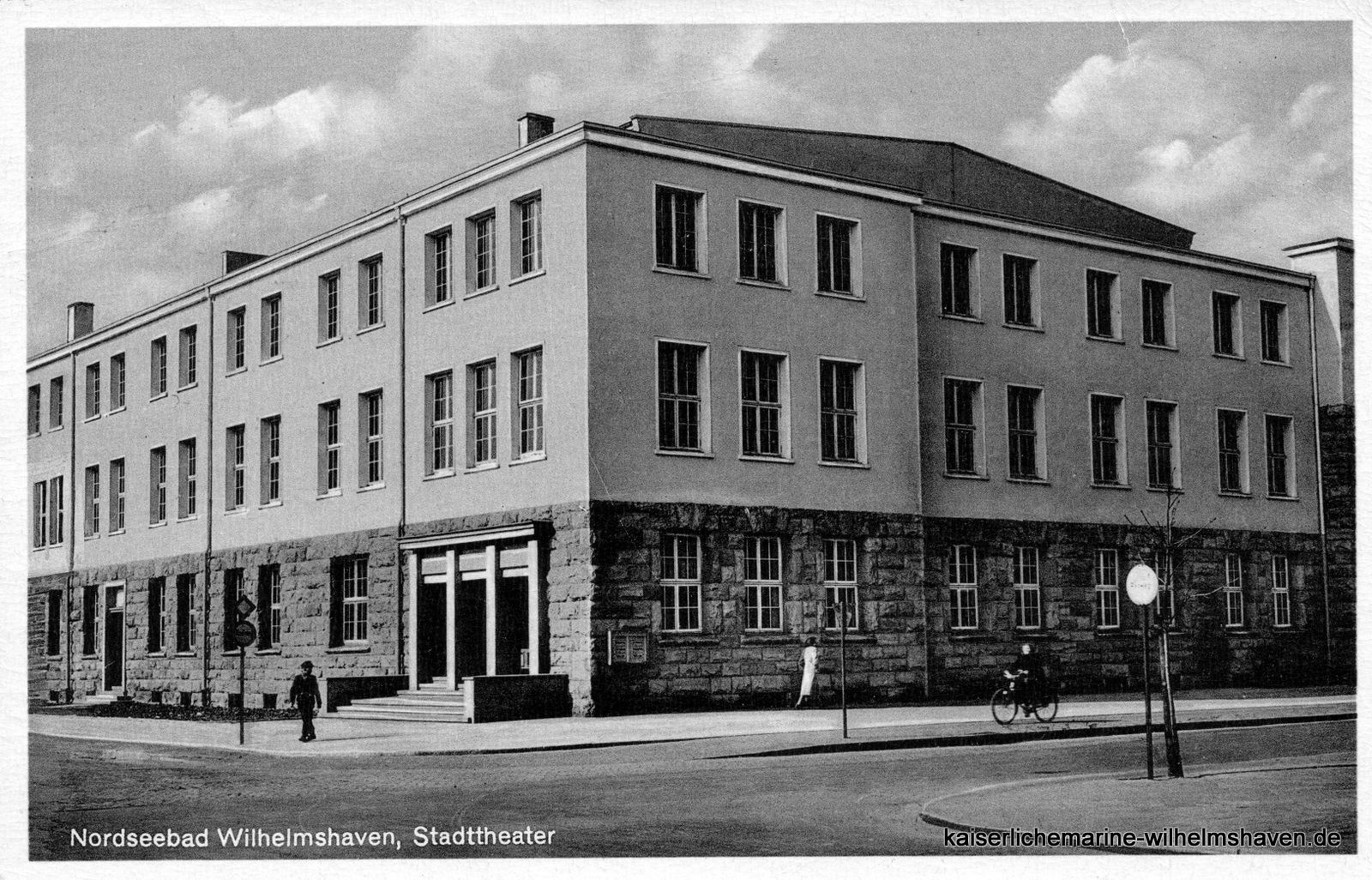Ansicht von Südost: Nach dem Umbau zum Stadttheater, ca. 1960