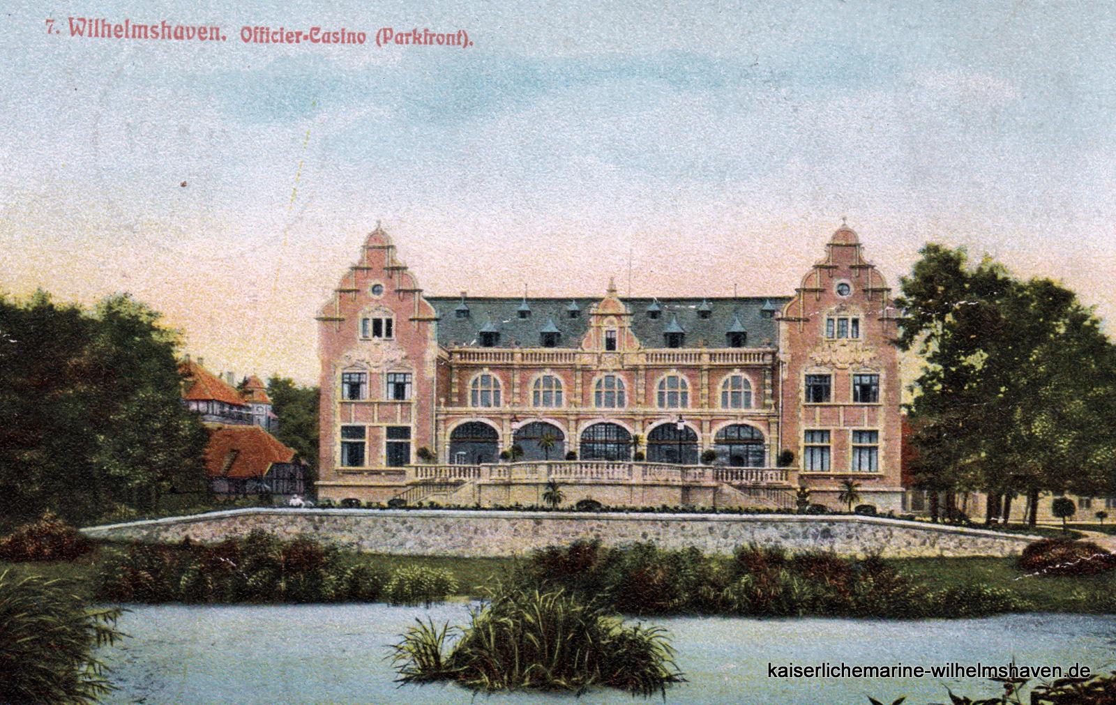 Zum Gelände gehörte auch der an der Gökerstraße bis zur Bismarckstraße gelegene Park mit Teich