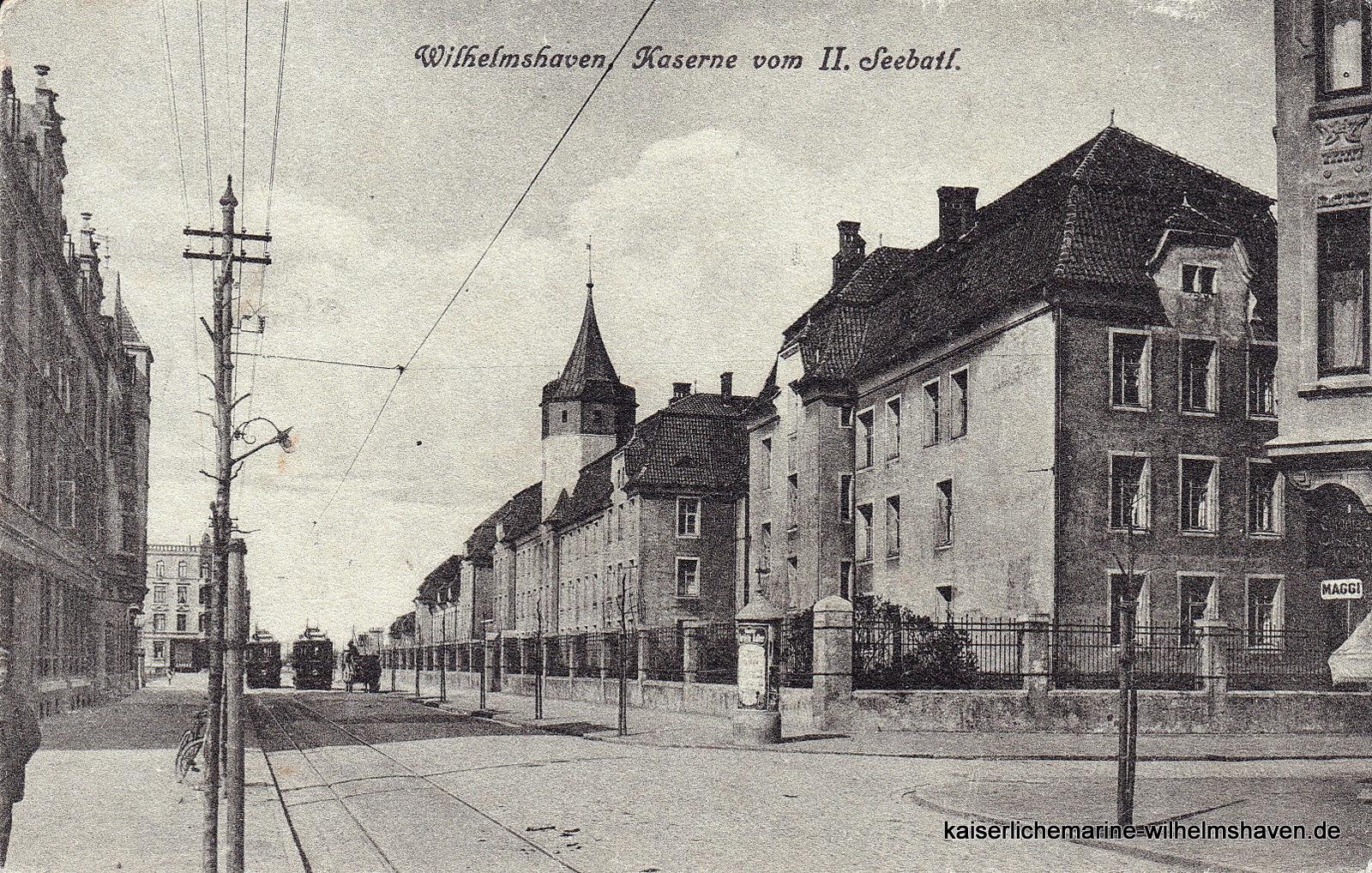 Blick auf die Kaserne von Südwest unweit der Ecke Gökerstr./Kirchreihe