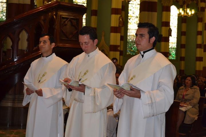 P. Rafael Lasso, P. Freddy Emileth Calderón García y P.Joseph Miller Barbosa Díaz