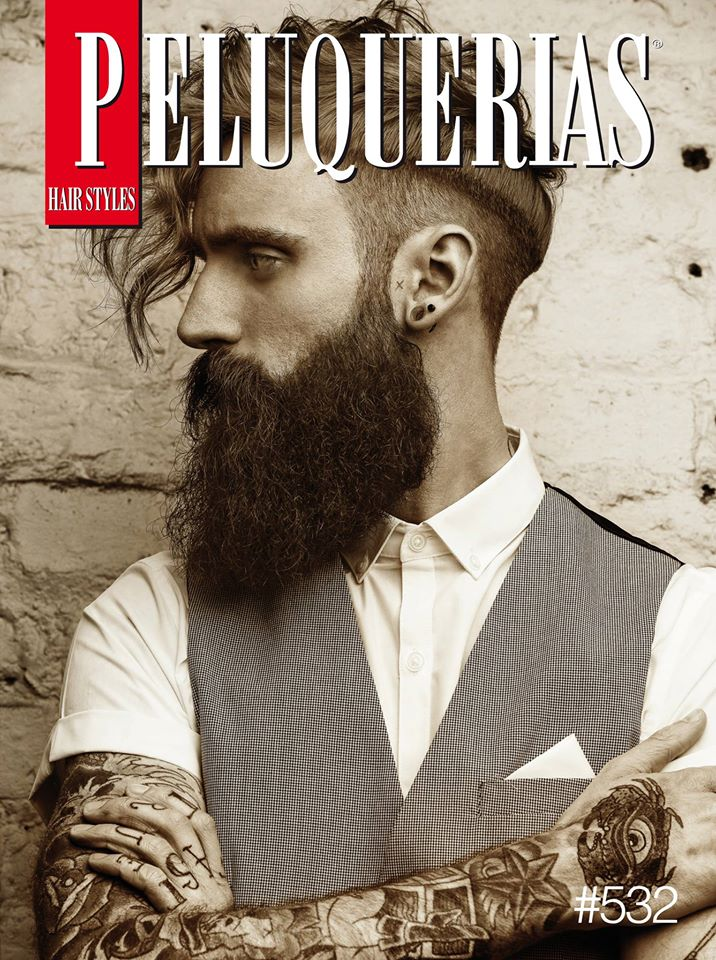 Cover der Peluquerias - spanisches Friseurmagazin (April 2016)
