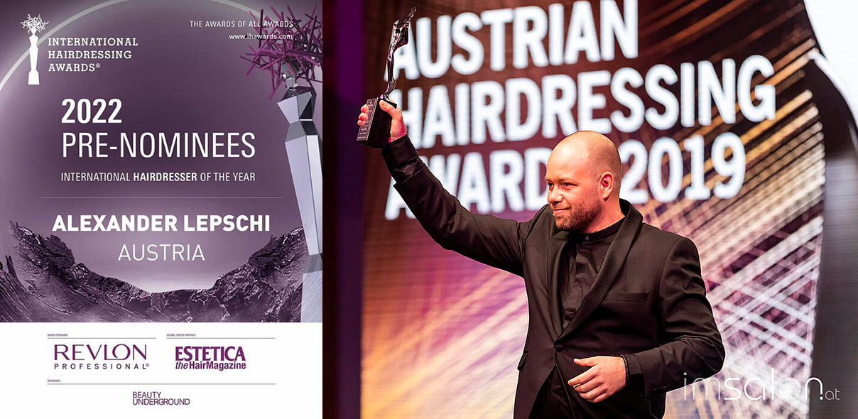 ALEXANDER LEPSCHI wurde erneut zum Titel INTERNATIONAL HAIRDRESSER OF THE YEAR nominiert!