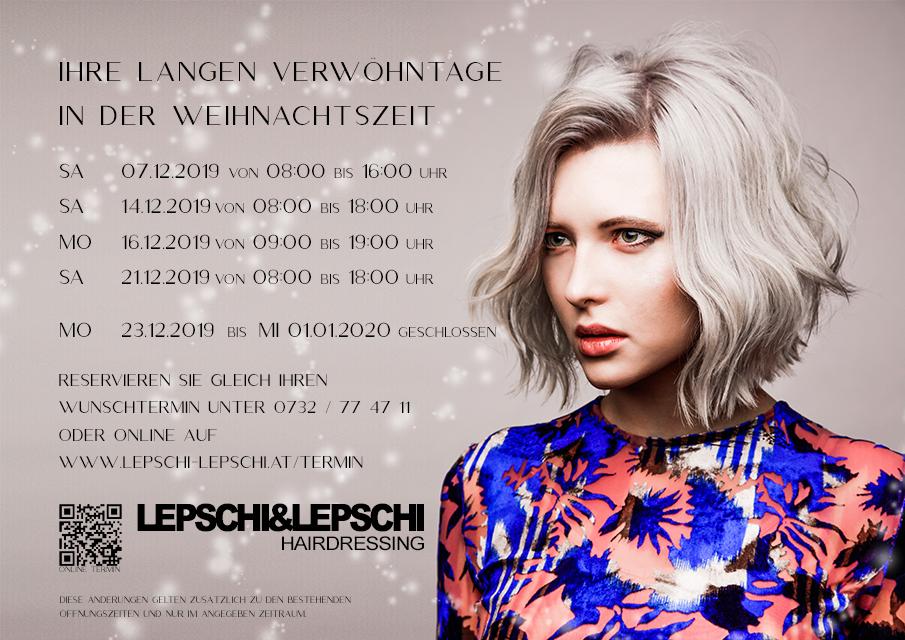 Verwöhntage in der Weihnachtszeit - Lepschi&Lepschi Hairdressing Linz