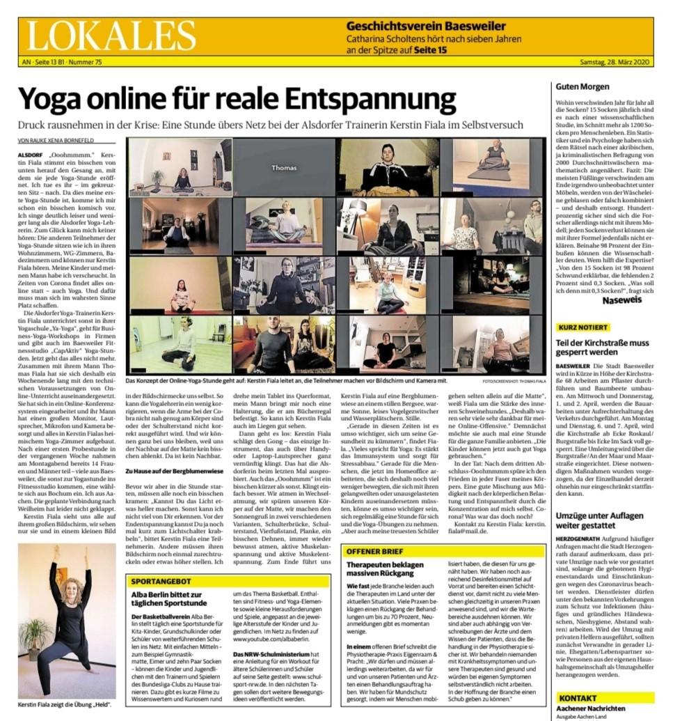 Pressebericht YA-YOGA - Online Yoga