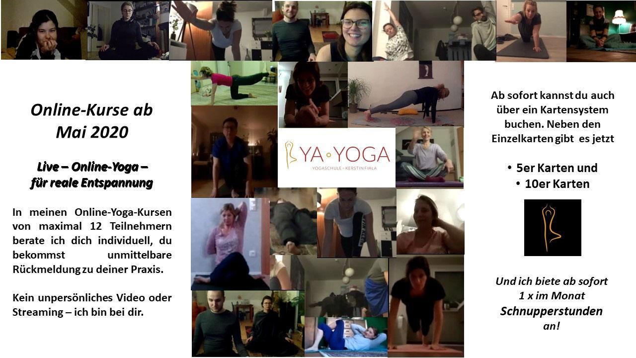 Online-Yoga-Kurse ab Mai 2020