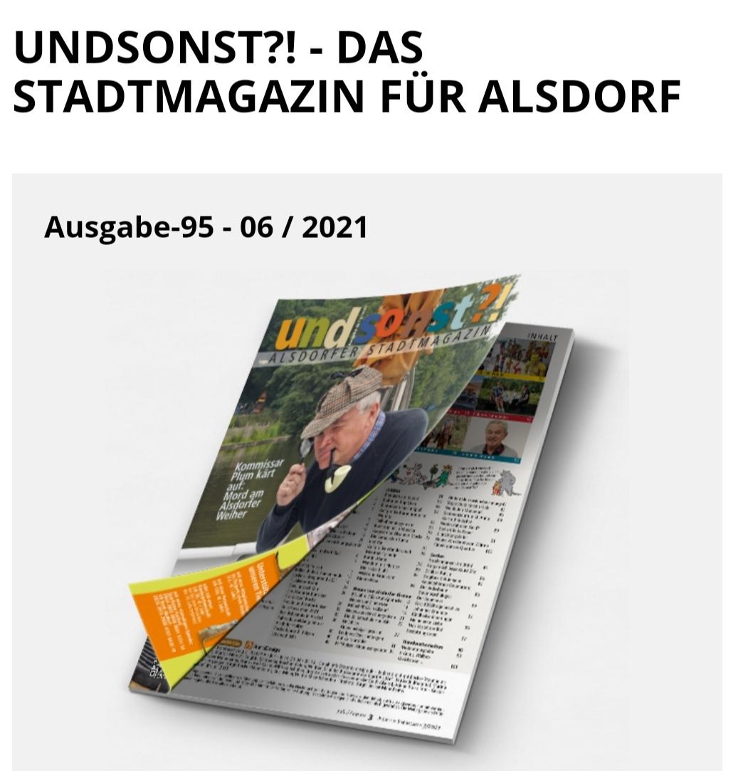 "Portrait YA-Yoga im Alsdorfer Stadtmagazin ""undsonst?!"""