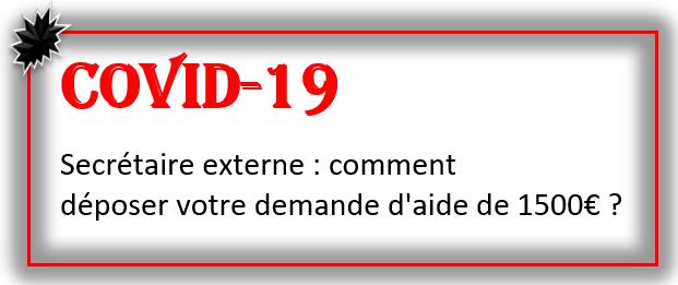COVID-19 : comment déposer votre demande d'aide de 1500€