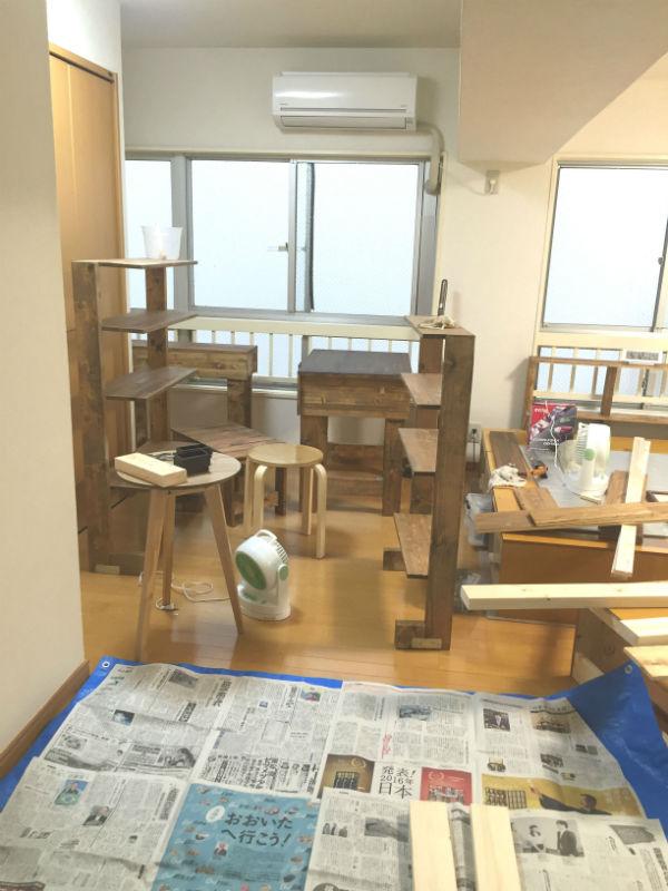 当院の多くの家具は手作りです