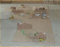 La maquette de la ferme