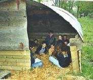 Corinne me conte une histoire de la ferme dans la cabane aux histoires