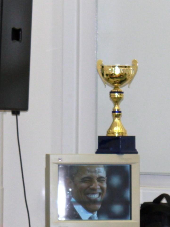 Обама радуется, так как его пригласили на финал 2012 MARGINGAME