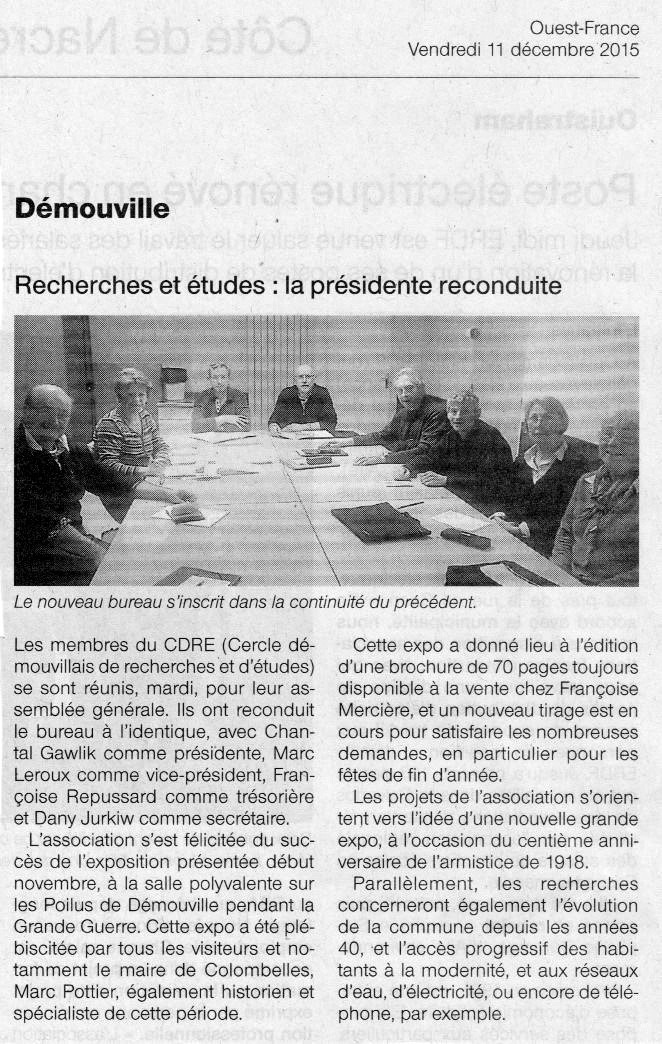 Ouest-France 11/12/2015