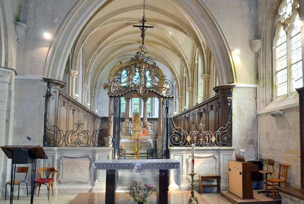 Coeur de l'église, inscrit au titre des Monuments Historiques