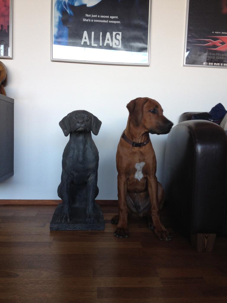 Posing mit Statue
