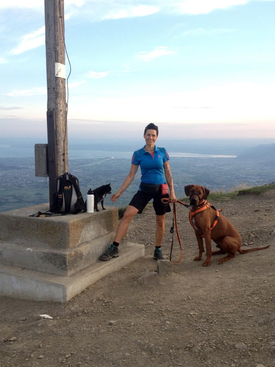 Bereits um halb 7 Uhr morgens waren wir auf dem Gipfel