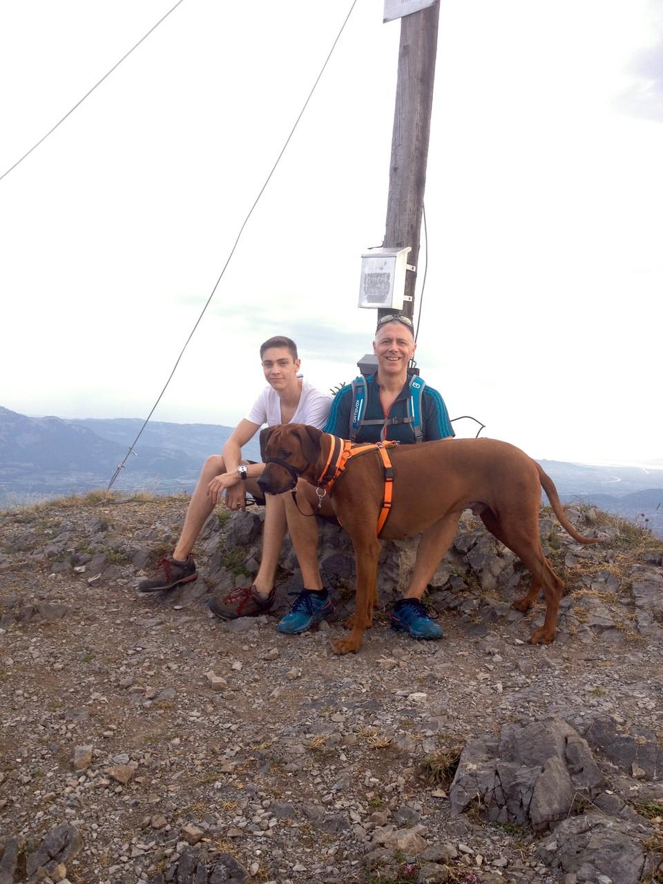 Dominik, Eckehard und ich auf der Gurtisspitze