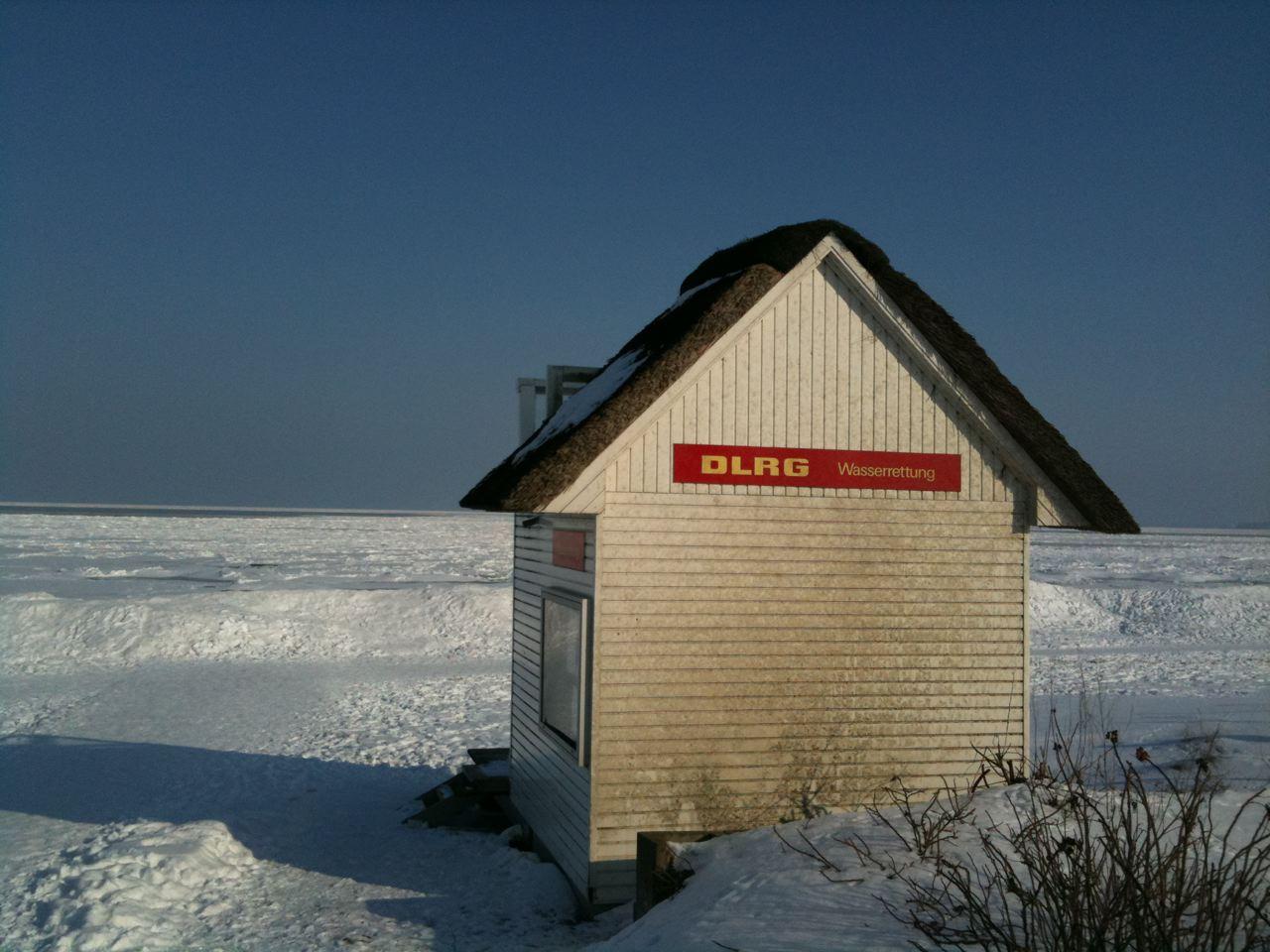 baden Sie in der Ostsee,