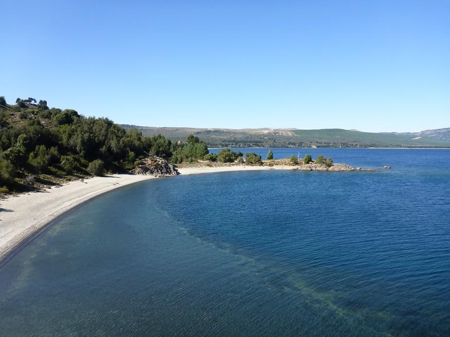 Unser Strand am Lago Aluminé