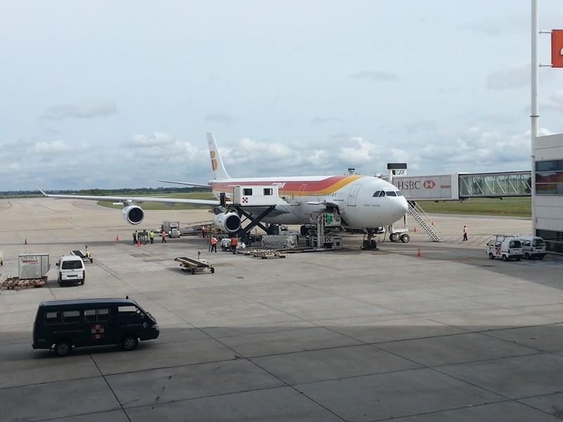 12.5 h Flug nach Montevideo, endlich gelandet!!!