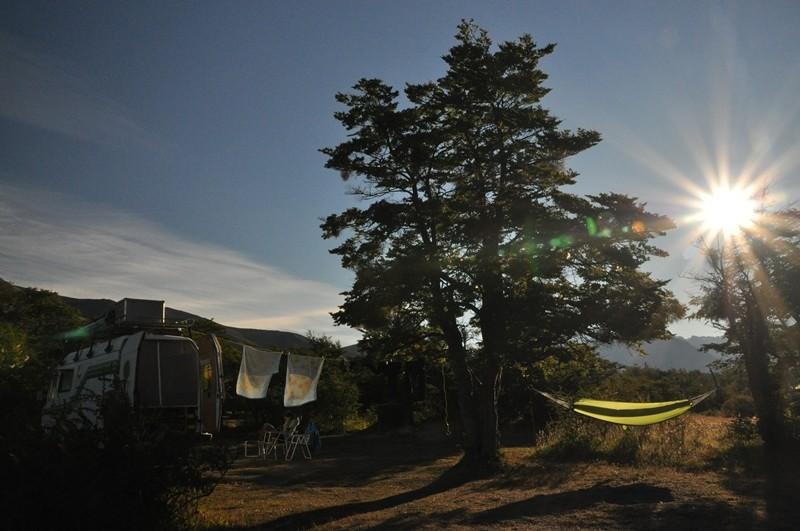 Abendstimmung beim campen