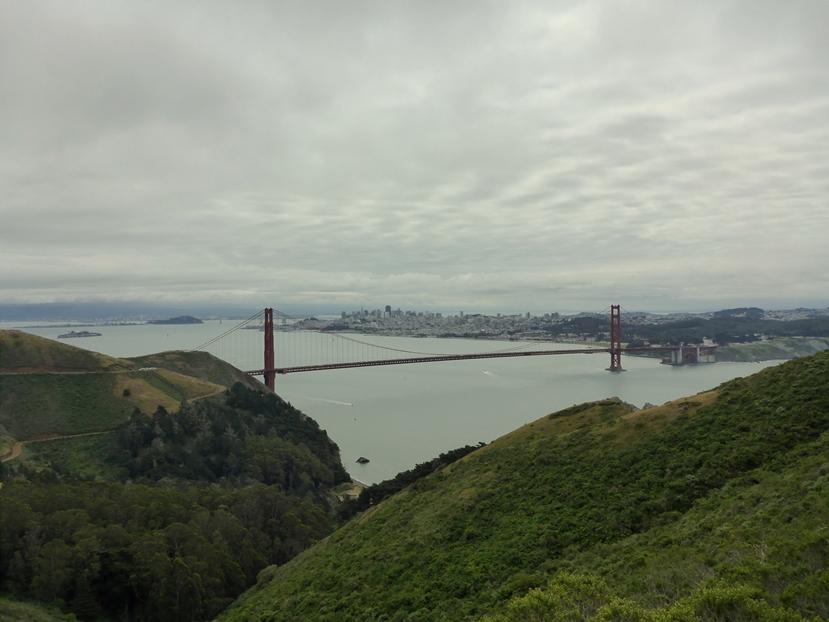 Schöner Blick auf die berühmte Brücke
