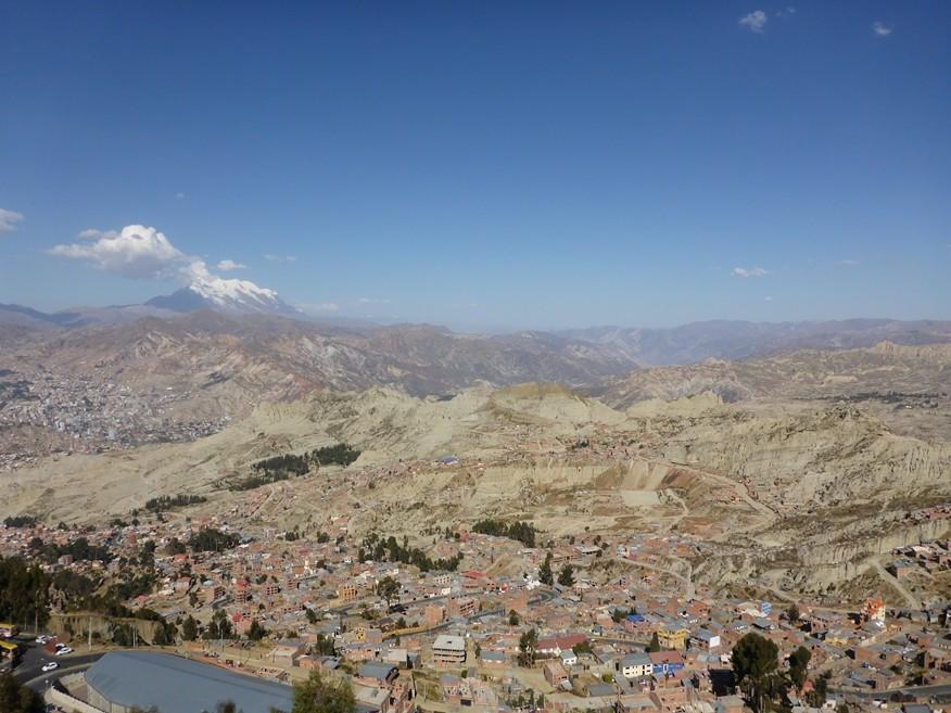 Erster Blick auf La Paz