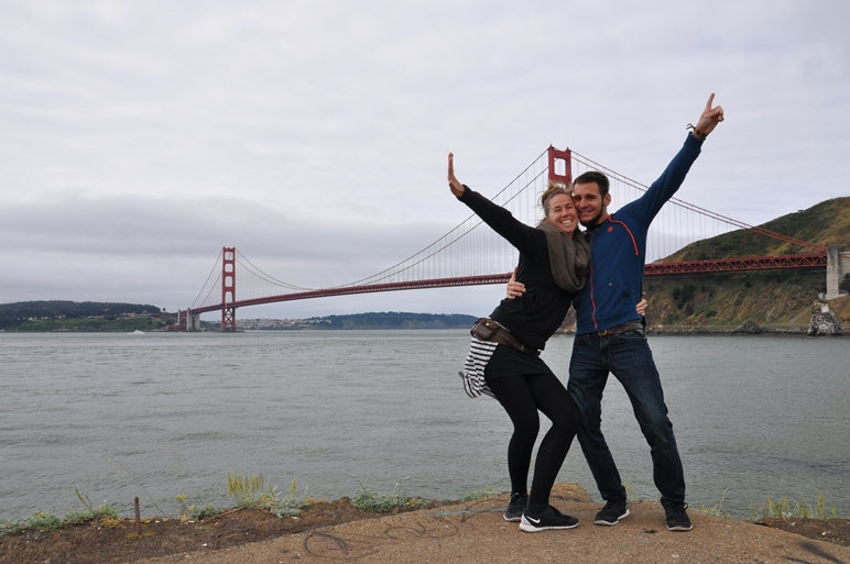 Vor der Golden Gate Bridge