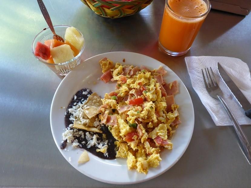 Ein typisches Morgenessen in Mexico