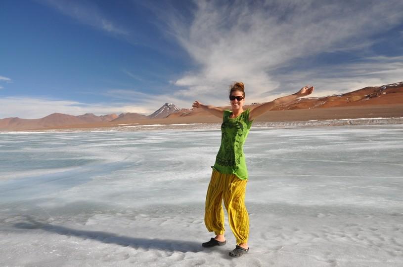 Tag und Nacht ist auf knapp 5000 m.ü.M alles gefroren